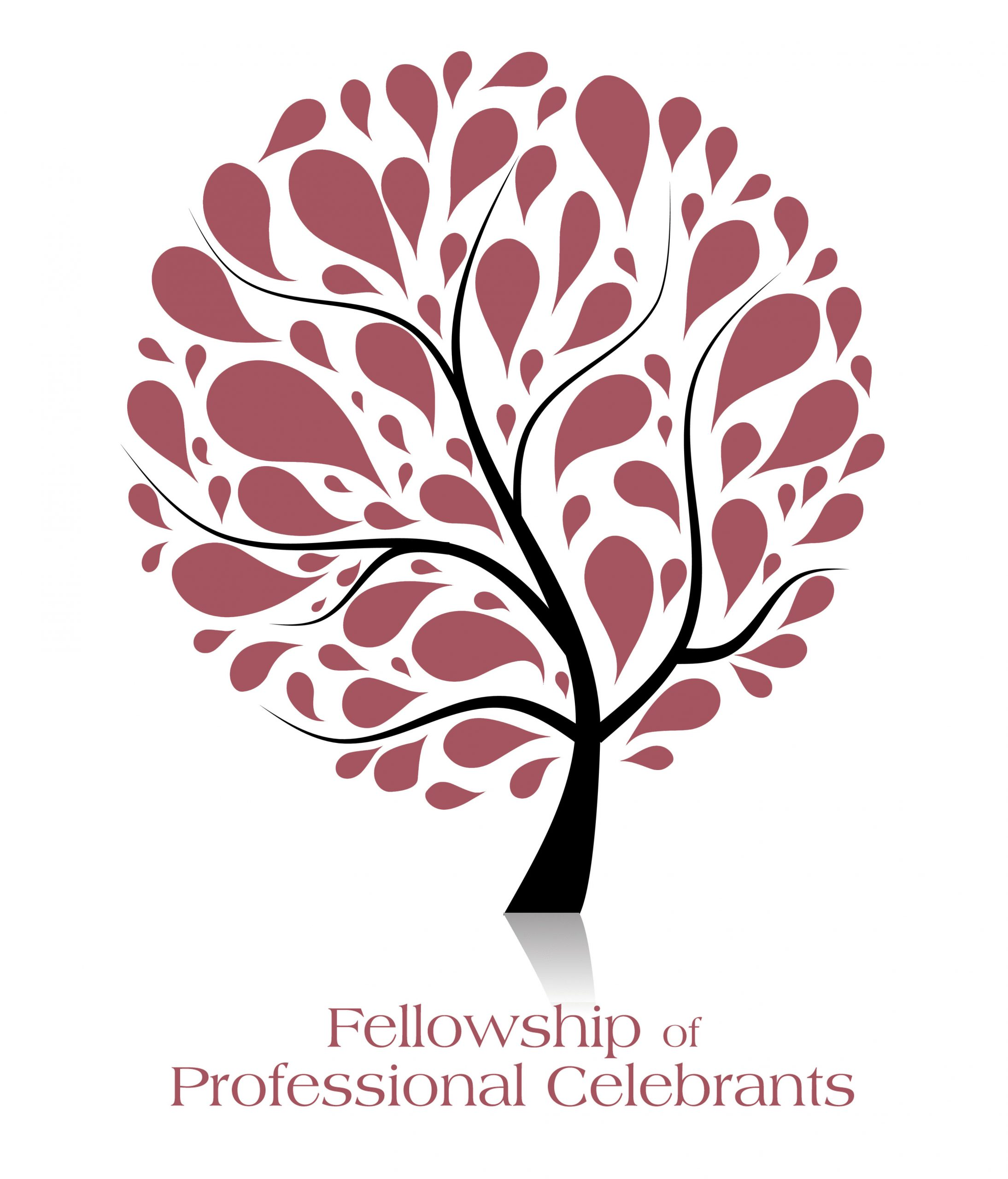 Red leaves on a tree fellowship of professional celebrants logo
