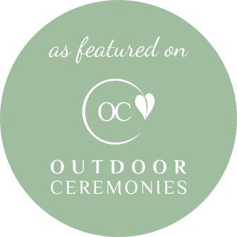 Green circle as featured on Outdoor Ceremonies logo